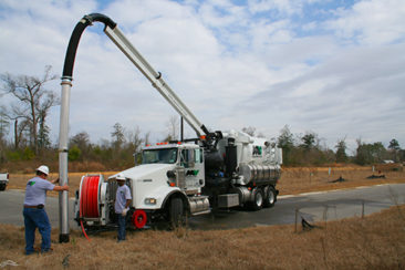 Vactor Unit with Boom and Sewer Cleaner